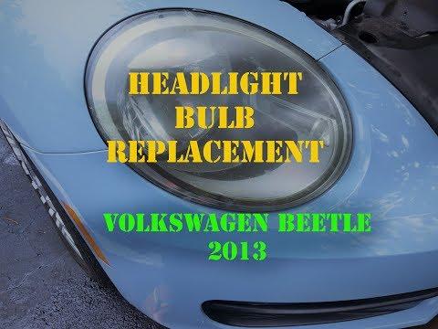 volkswagen beetle 2013 HeadLight bulb Replacement