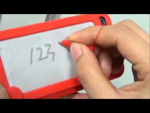 iPhone 4S 4 iFoolish Etch-a-Sketch Magic Drawing Case with drawing pen