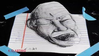 HOW TO DRAW A 3D FACE (Optical Illusion 3-D Trick Art)