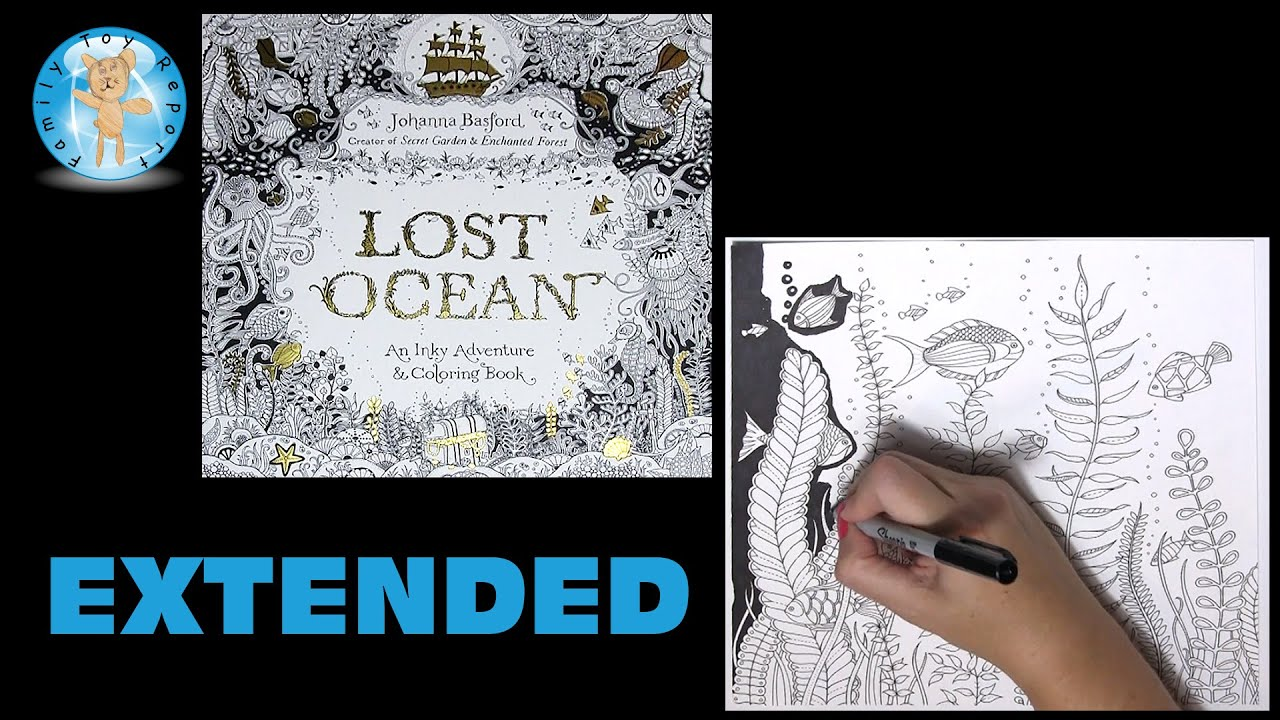 Lost Ocean Johanna Basford Adult Coloring Book Floral Fish Lostocean Extended