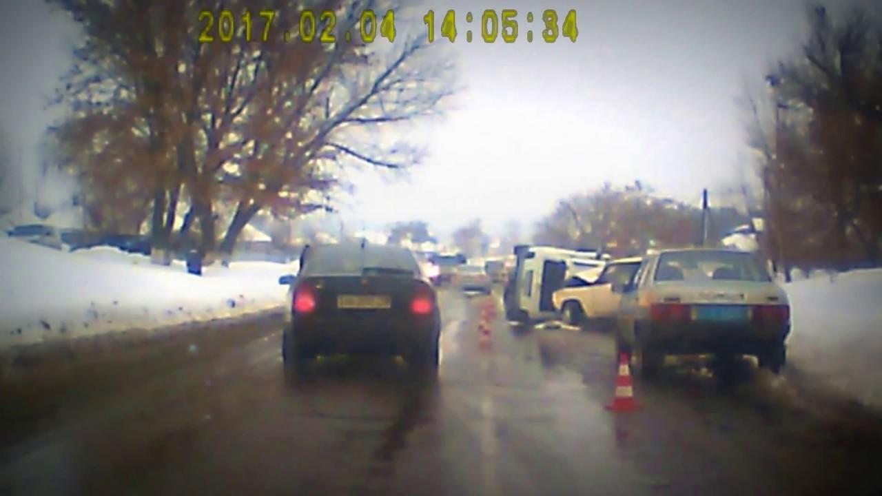 Авария ДТП 04.02.2017 в Солоницевке, на трассе Харьков - Сумы