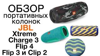 Обзор и сравнение беспроводных колонок JBL Xtreme, Charge 3, Flip 3, Flip 4, Clip 2