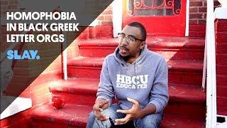Homophobia In Black Greek Letter Orgs