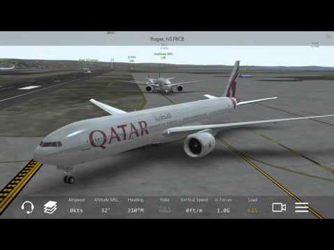 [HD] Infinite Flight Boeing 777-300ER. Multiplayer. ATC. Qatar takeoff at San Diego airport