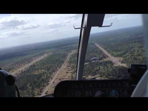 Anflug auf Sperenberg Bell 206