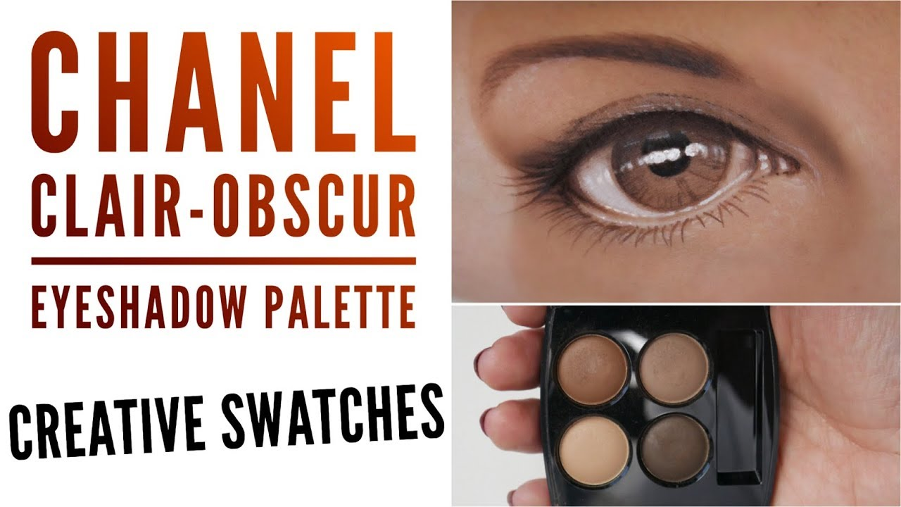 f1f7cb8d CHANEL Clair-Obscur Eyeshadow Palette Creative Swatches