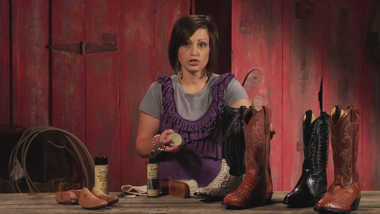 Sheplers How To - Exotic Cowboy Boot Care - YouTube