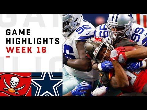 Buccaneers vs. Cowboys Week 16 Highlights | NFL 2018