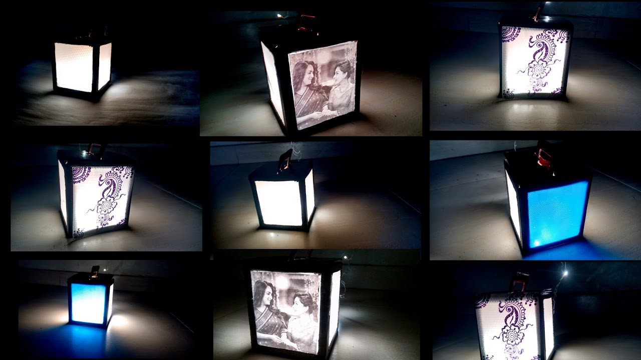 DIY Diwali kandil/ lamp/ photo frame: three in one DIY 2016 - YouTube
