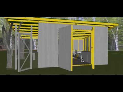 Garden Shed/ Chicken Coop/ Rainwater Harvesting Combo 3D design