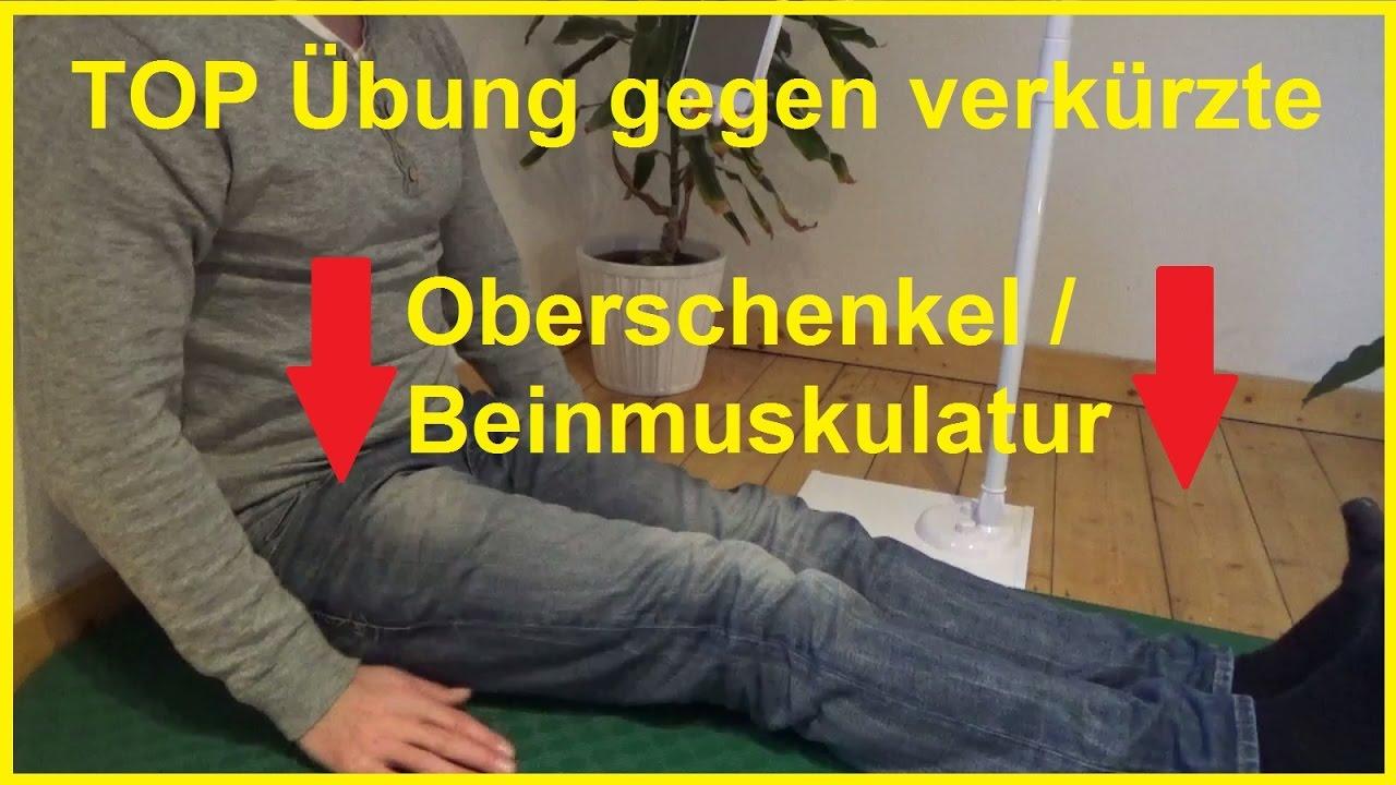Oberschenkelmuskulatur Beinmuskulatur verkürzt Top Übung ohne ...