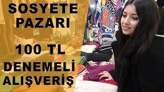 Sosyete Pazarı/100 TL'ye Kombin - Denemeli Alışveriş / 15 TL'ye Jean Buldum ‼️ #moda #pazar #tarz