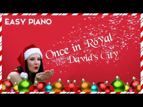 ONCE IN ROYAL DAVIDS CITY | EASY PIANO TUTORIAL & SHEET MUSIC | Christmas & Holidays