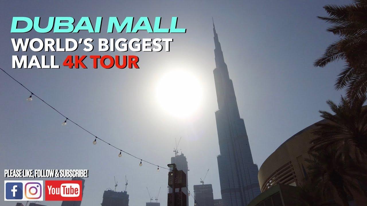 [4K] DUBAI AQUARIUM   DUBAI FALLS   DUBAI MALL/ BURJ KHALIFA VIRTUAL WALK TOUR P1