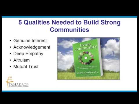 Five Qualities for Cultivating Strong Communities