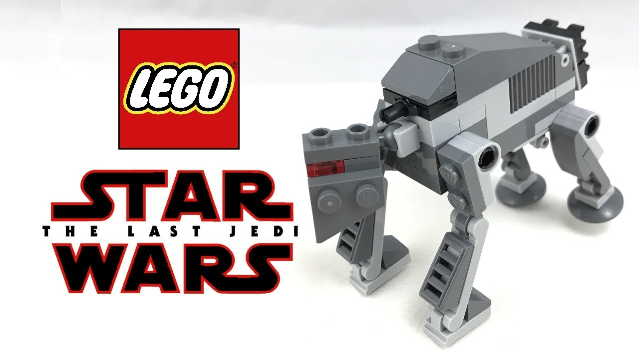Last Jedi Lego STAR WARS First Order Heavy Assault Walker 30497 New in Polybag