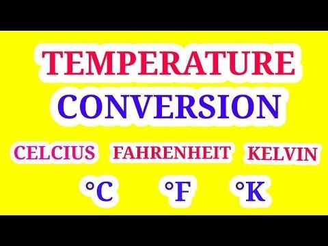 Temperature conversion   Celsius Farenheit Kelvin   In Hindi  