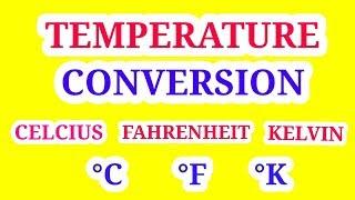 Temperature conversion | Celsius Farenheit Kelvin | In Hindi |