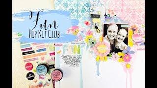Scrapbooking Process Video  Recipe Challenge  Hip Kit Club  Lauren Hender