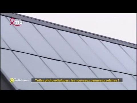 tuiles photovolta ques les nouveaux panneaux solaires la quotidienne youtube. Black Bedroom Furniture Sets. Home Design Ideas