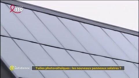 Tuiles photovoltaïques : les nouveaux panneaux solaires ? - La Quotidienne