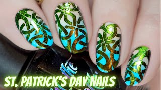 St. Patrick's Day stamping nail art | Hit the Bottle stamping polishes
