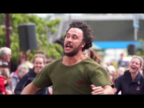 NEW ZEALAND SPORTS: Gumboot Throwing and Jandal racing.