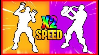 All dances of FORTNITE twice as fast x 2 (1-40)