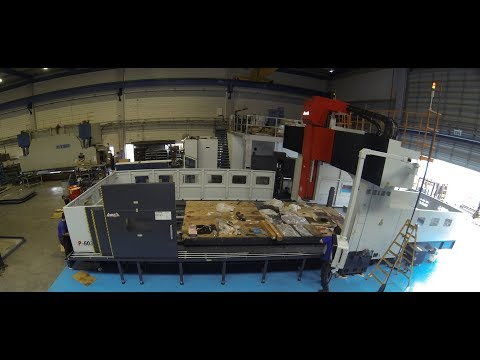 Huge CNC Mill Installation (Time Lapse)