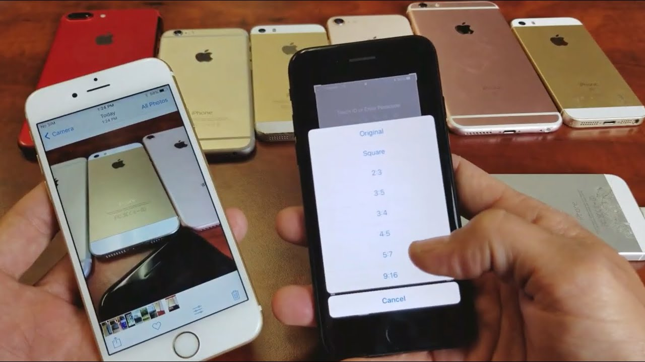 All Iphones How To Change Aspect Ratio For Photos 9 16 16 9 1 1 4 3 Youtube