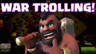 Clash Of Clans Trolling Clan Wars | New Clan War Strategy (Or Is It?)