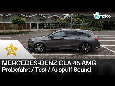 Mercedes Benz CLA 45 AMG Shooting Brake Probefahrt Test Auspuff Sound | CLA AMG Probefahrt