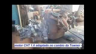motor CHT 1.6 adaptado no cambio da Towner -