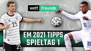 Em 2021 tipps ⚽ deutschland - frankreich & polen slowakei u.a. prognose 1. spieltag
