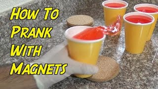 How To Prank With Magnets- CUP SPILL PRANK (Evil Booby Traps)