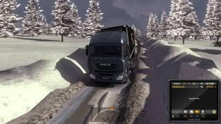 Euro Truck Simulator 2 Iveco зима на карте r26