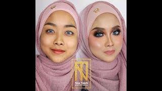 Nisa Touch : Makeup Pengantin Edisi 'Cut Crease + Glitter Eyes'