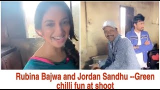 Rubina Bajwa-Jordan Sandhu|At shoot|eating green chilli|Jordan at gym |sweat|Munda hi chahida