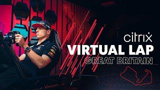 @Citrix Virtual Lap: Max Verstappen Sends It At Silverstone