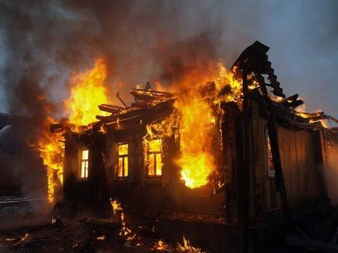 Пожар по ул. Матросова г.Чебаркуль
