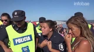 Megaoperativo policial contra tres mujeres que hicieron topless en Necochea
