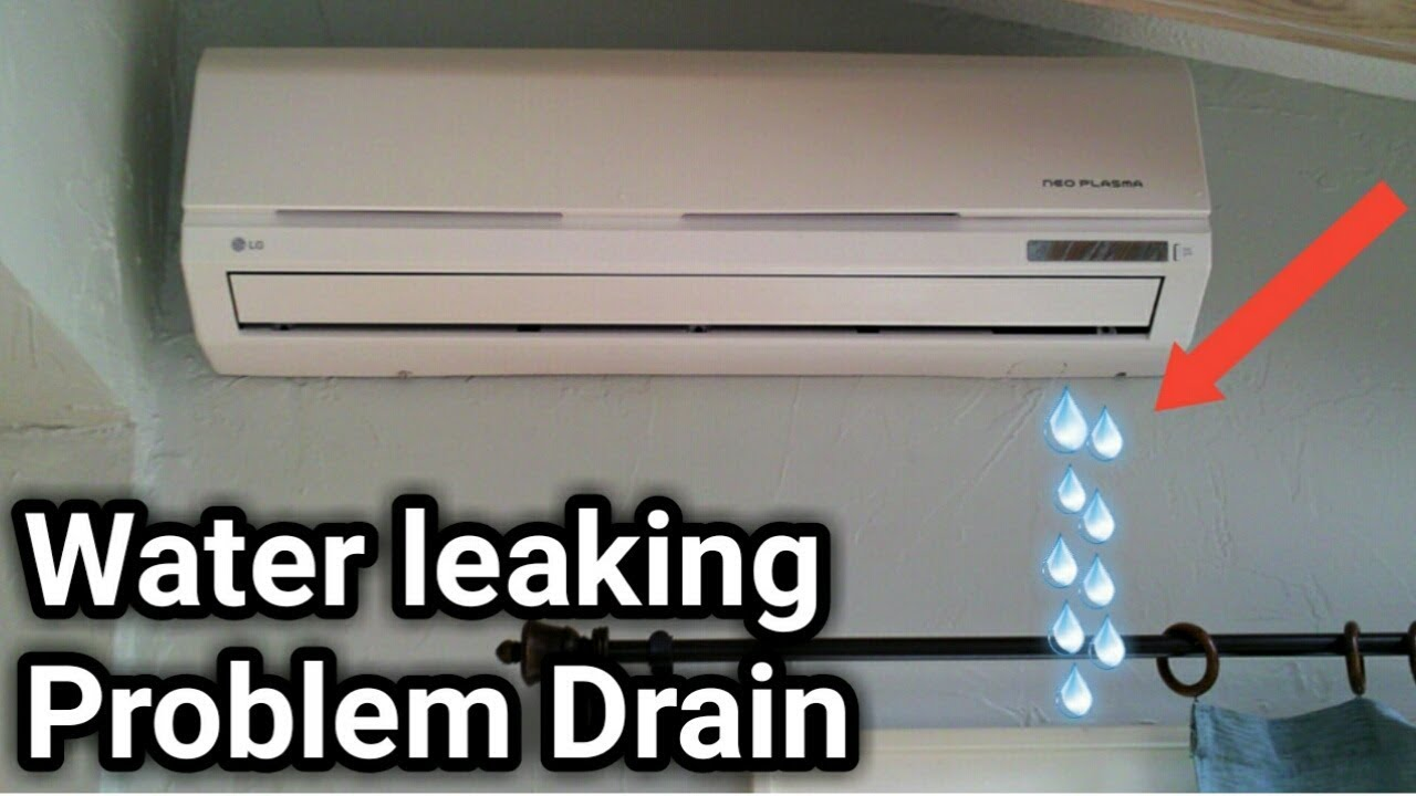 Water Leaking In Door Unit Drain Problem Solve