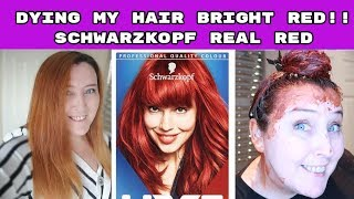 Dying my hair bright red | schwarzkopf Real Red