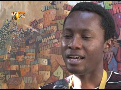 Ugandan man moved to Kenya to pursue painting art