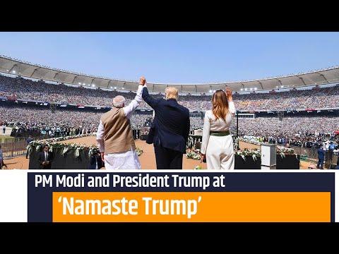 PM Modi and President Trump attends Namaste Trump event in Ahmedabad, Gujarat   PMO