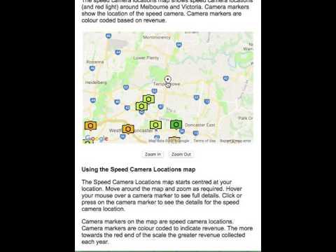 Speed Camera Locations