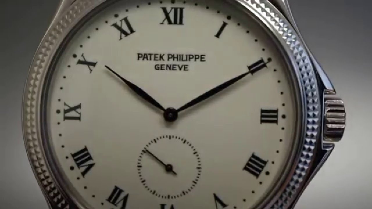 patek philippe calatrava enamel dial clous de paris 18k white gold