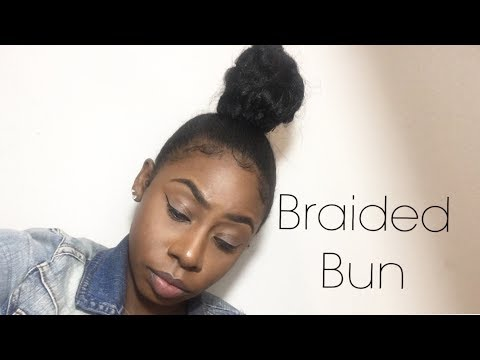 Faux Braided Bun Hairstyle Using Kanekalon Extensions