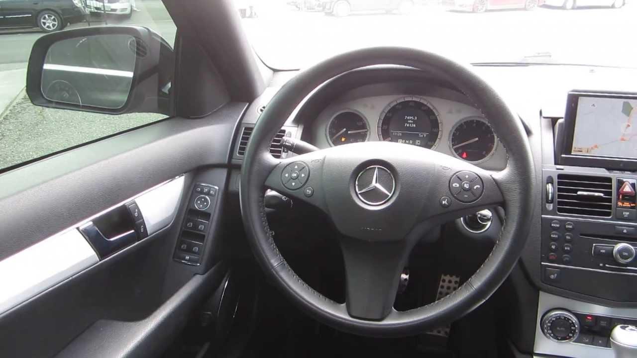 medium resolution of 2008 mercedes benz c300 black stock 107570 interior