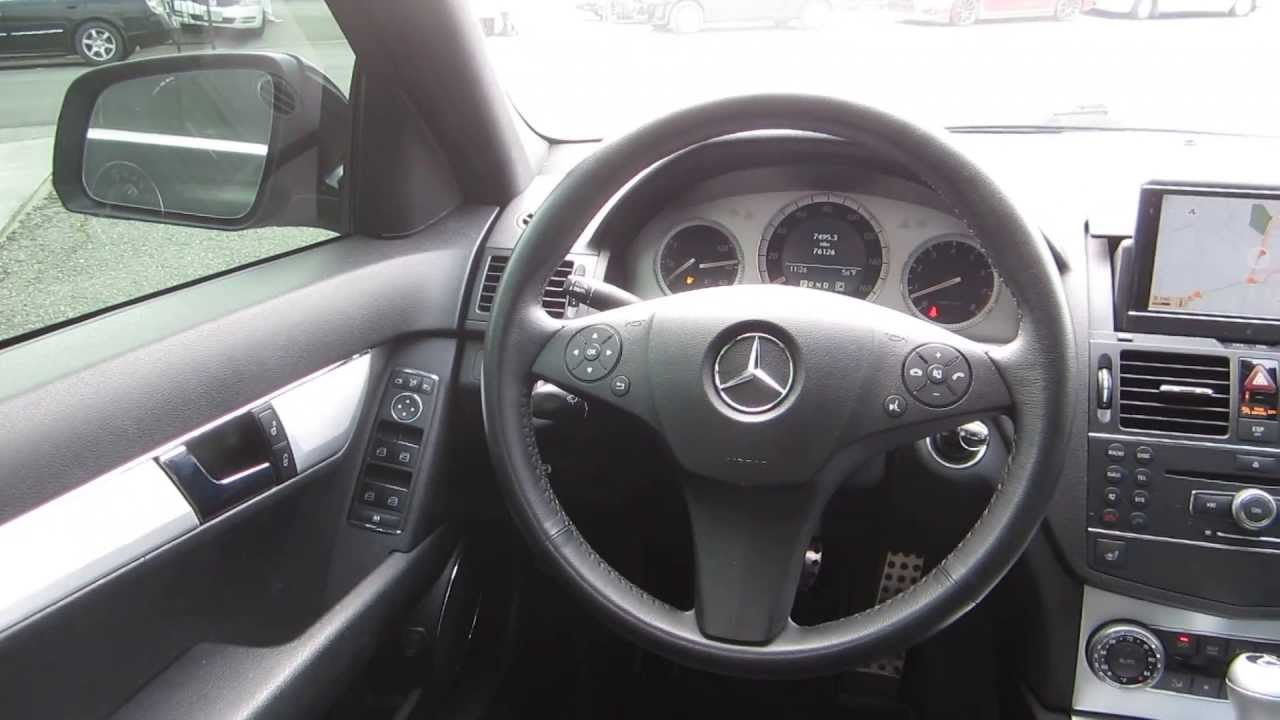 2008 mercedes benz c300 black stock 107570 interior [ 1280 x 720 Pixel ]
